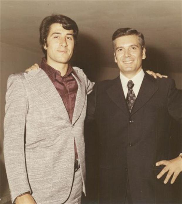 Vito Tommaso e Giuliano Cenci nel 1972 alla presentazione del film Un burattino di nome Pinocchio