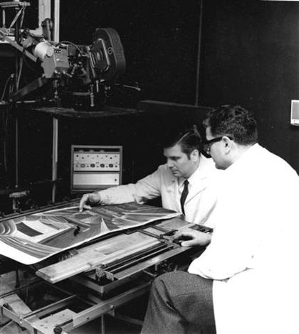 Giuliano e Renzo Cenci durante le riprese del Pinocchio