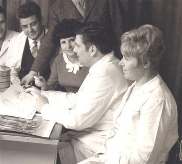 Albertina e Giuliano Cenci, con accanto la sorella Margherita e il fratello Renzo