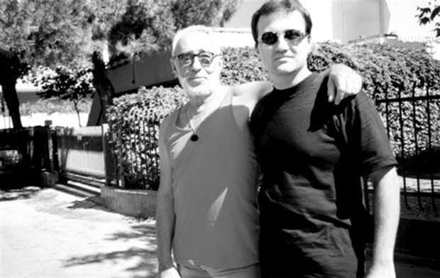 Osvaldo Cavandoli con Mario Verger nel 1997