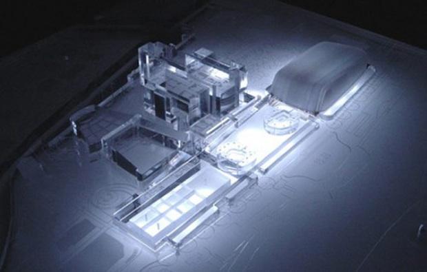 il progetto vincitore del concorso per il nuovo palazzo del cinema di Venezia e aree limitrofe. Progetto di 5+1 Architetti Associati + Rudy Ricciotti