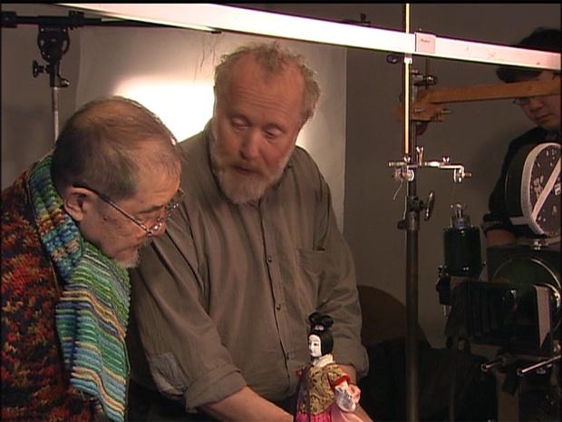 """Kihachirô Kawamoto e Jurij Norštein sul set di """"The Book of the Dead"""""""