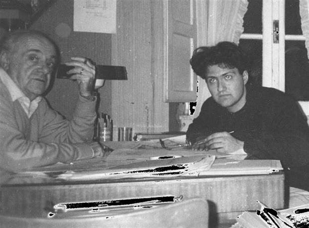Gibba con un giovanissimo Mario Verger