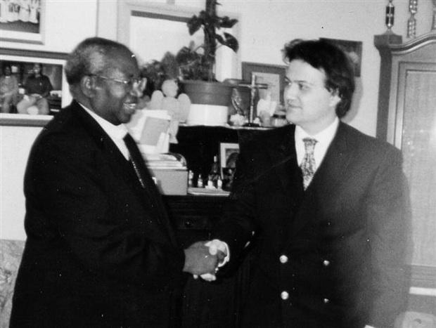 Mario Verger e Mons. Milingo