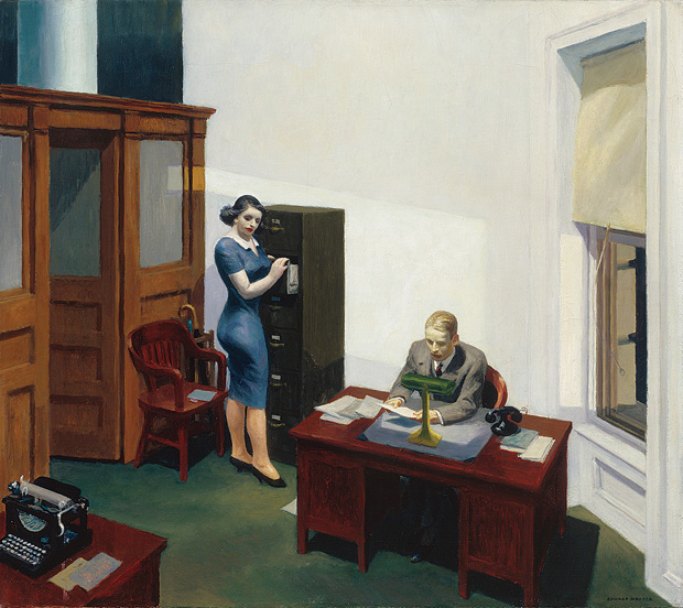 hopper_officeatnight