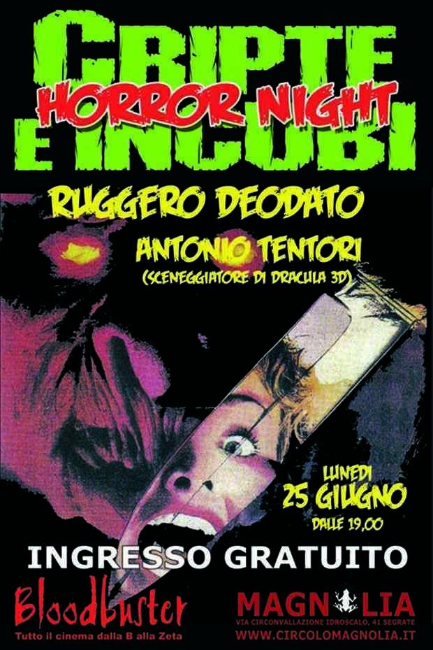 Cripte e Incubi Horror Night - locandina