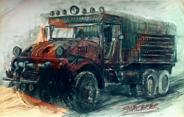 Truck sketch by designer John Box for William Friedkin's SORCERER (1977)