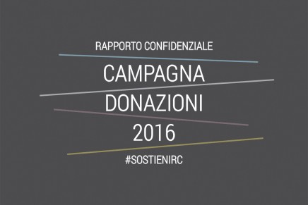 Campagna donazioni 2016 #SostieniRC