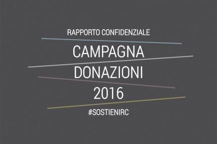 Campagna donazioni 2016 #SostieniRC